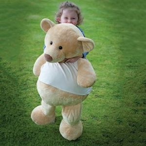 Personalised Supersize Giant Teddy Bear with T-Shirt
